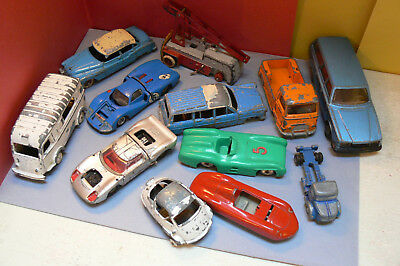 Lot.12 Dinky Toys, Cij, Norev ,Quiralu, solido, Schuco. Jouet.Collection.