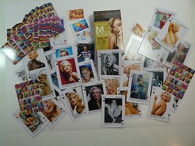 54 (different motives) Playing cards Cartes a jouer Marilyn Monroe , 54 Photos
