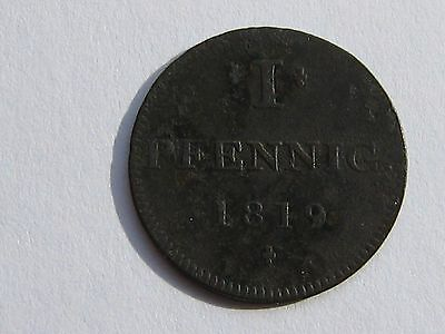 1819 German States Frankfort 1 Pfennig