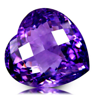 66.12Ct Huge! Dazzling Eye Clean Quality Unheated Purple Amethyst Loose Gemstone