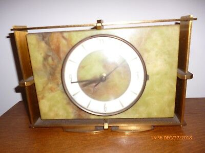 Vintage Brass And Marble Clock Spares/repairs Only