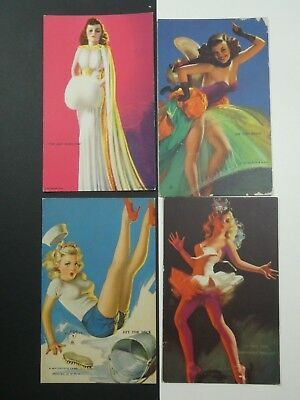 Four original Mutoscope cards (Pin-ups pinups) from the 1950's vintage