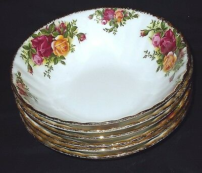 SIX Royal Albert OLD COUNTRY ROSES Cereal Bowls