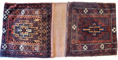 Antique Middle Eastern/Persian Baluch double wool saddle bags.