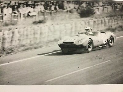 Rare Photo De Presse Originale Course 24HR DU MANS 1963 FERRARI TESTAROSSA
