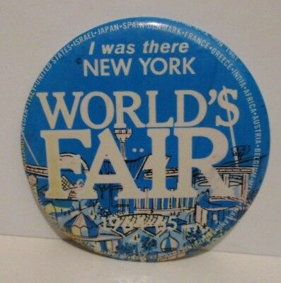 Vintage 1964 1965 Nywf New York World's Fair I Was There Pinback Button Pin Bad