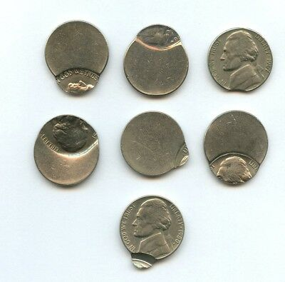 Mixed Date Jefferson Nickel Errors  -- 7 COINS (AS PICTURED)
