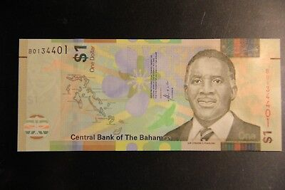 UNC Bahamas 1 Dollar 2017 77 NEW CRISPe TDLR Police Band Pindling Uncirculated