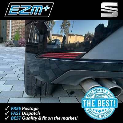 EZM Seat Leon FR TDI MK3 FACELIFT Rear Bumper Reflector Overlay Stickers Decals
