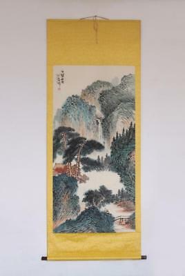 Fine Chinese Hand Painted Painting Scroll Pu Xinyu (399)