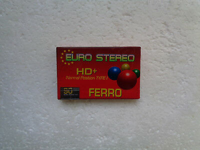 Vintage Audio Cassette EURO STEREO HD+ 90 * Rare From EU 1990's *