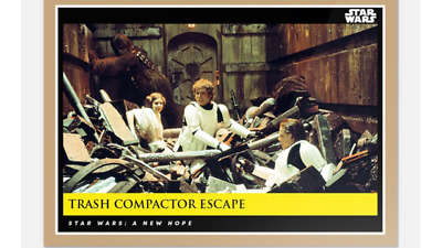Topps Countdown Episode 9 Star Wars New Hope Moments Trash Compactor Escape #14