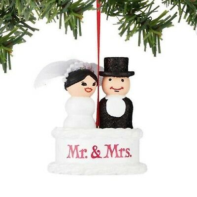 Dept 56 Fisher Price Little People Cake Topper Ornament Bride and Groom MWT