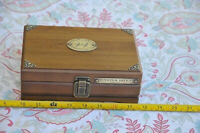 Vintage Benson & Hedges Solid Wood Travel Cigar Box Humidor      504