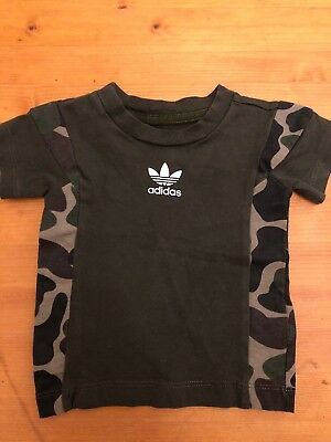Baby Adidas Camo T Shirt Age 3-6 Months