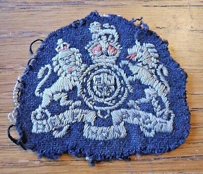 WW2 RAF Warrant Officer Sleeve Badge Original  Kings Crown Previously Sewn On