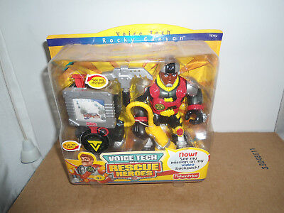 Fisher-Price Voice Tech Mission Com. Rescue Heroes Rocky Canyon Mountain Ranger
