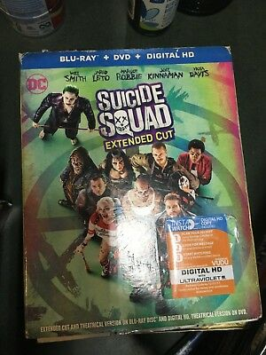 Suicide Squad Extended Cut (Blu-ray/DVD, 2016)