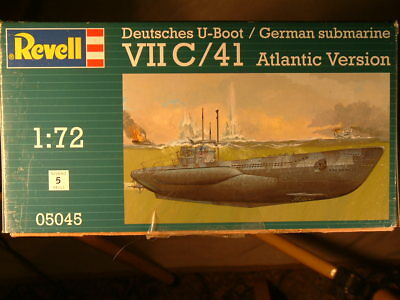 OVP 1:72 Atlantic-Version - Deutsches U-Boot VII C 41 - 93,4 cm - Revell 05045