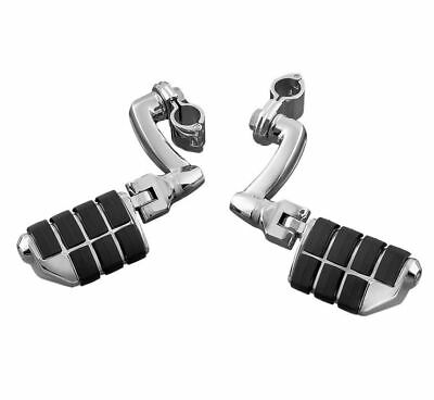 "Kuryakyn Longhorn Offset Highway Foot Pegs Dually 1"" Magnum Quick Clamp"