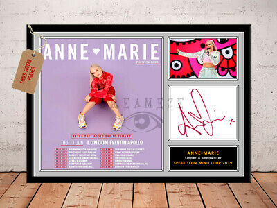 ANNE MARIE SIGNED Photo Print SPEAK YOUR MIND TOUR 2019 Free Postage