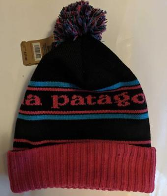 b0e5c01625704 New Patagonia Powder Town Pom Beanie Men Women Park Stripe Pink - One Size