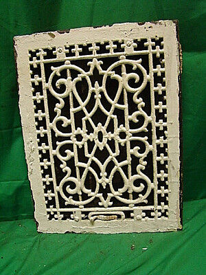 Antique Late 1800's Cast Iron Heating Grate Unique Ornate Design 16 X 12   Ht