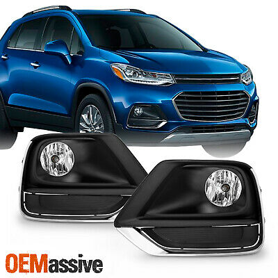 For 2017-2019 Chevy Trax model Bumper Fog Lights Lamp w/Wiring Switch Pair LH+RH