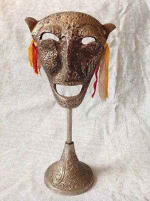 Vintage/ silver plated trophy Tribal Zoomorphic Mask