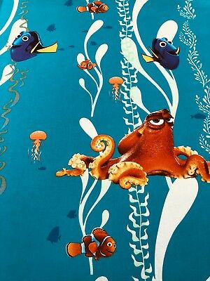 Disney Finding Nemo HANK 45 Licensed 100% Cotton Craft Fabric Material