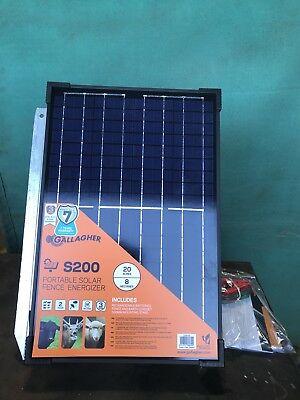 Gallagher S200 Solar Powered Electric Fence Energizer Horses Cattle Sheep