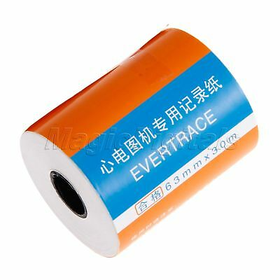 1 Roll 3-channel Print Paper 63mm*30m For ECG/EKG Machine And Patient Monitor