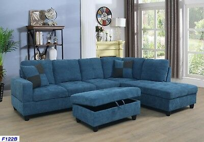 Lifestyle Furniture 3pc Sectional Sofa Set With Free Ottoman 2