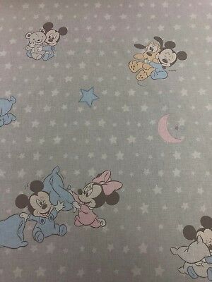 Disney Baby Mickey & Minnie SNUGGLE53Licensed 100% Cotton Craft Fabric Material