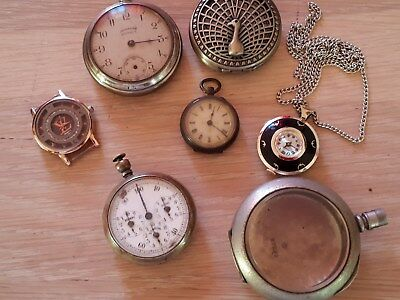 Job Lot  13 Watches Pocket Watches & Desk Clocks  Including Next Watch
