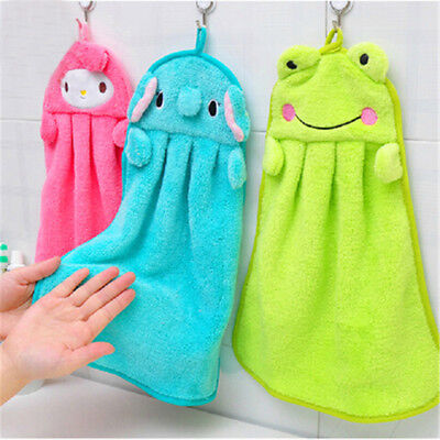 Baby Kid Hand Towel Cute Cartoon Animal Kitchen Bath Hanging Wipe Towel Hot Sale