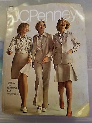 Vintage JCPenny Spring And Summer Catalog 1974 fashion lighting tools