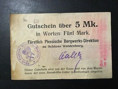 1920'S Germany Paper Money - 5 Mark Banknote!