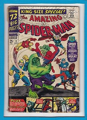 Amazing Spider-Man King-Size Special #3_Nov 1966_Vg Minus_Avengers_Doc Ock!