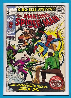 "Amazing Spider-Man King-Size Special #6_Nov 1969_Very Good Minus_""sinister Six""!"