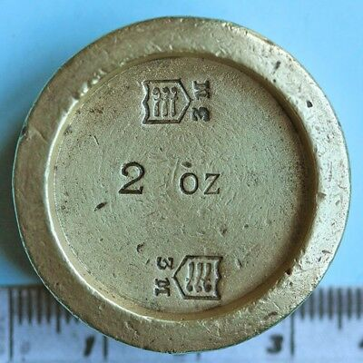 Victorian brass two-ounce weight, Middlesex