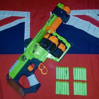 Nerf Zombie Strike Doominator Shotgun Blaster Gun 24 Foam Darts BUNDLE JOB LOT