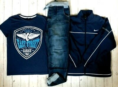 13 14 Years Nike No Fear Jacket Jeans Tops Boys Trendy Outfit Clothes Bundle