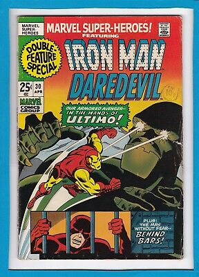 Marvel Super-Heroes #30_April 1971_Vg_Featuring Iron Man_Daredevil_Ultimo!