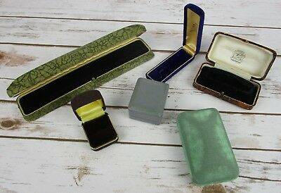 Art Deco Jewelry Display Box Lot of 6 Vintage