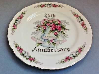 A Lovely Norcrest Fine China Porcelain 25th Anniversary Plate