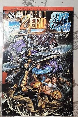 WEAPON ZERO/SILVER SURFER #1 signed by STAN LEE and MARK SILVESTRI number 10.