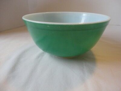 Vintage Pyrex 403 Primary Green 2-1/2 Quart Mixing Nesting Bowl