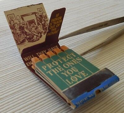 Display Feature Matchbook, R. W. White Insurance Co., Seattle, Wa., Family, Full