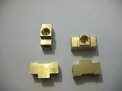 """Brake Line Brass Union Tee 3/16"""" Inverted Flare 3/8-24 All Sides, Fmr, 4 Pack"""